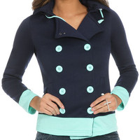 Colorblock Double Breasted Jacket | Shop Jackets at Wet Seal