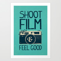 Shoot Film Art Print by Victor Vercesi