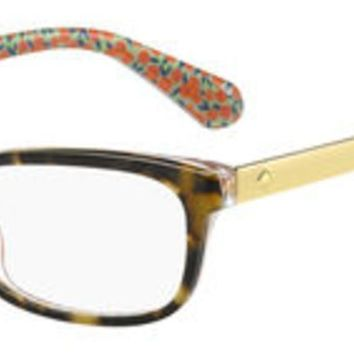 Kate Spade - Jessalyn 52mm Havana Pattern Green Eyeglasses / Demo Lenses