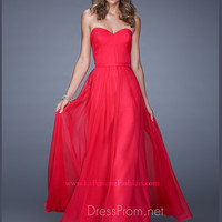 Strapless Sweetheart La Femme Formal Prom Gown 20808