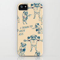 Pug Workout iPhone & iPod Case by Huebucket