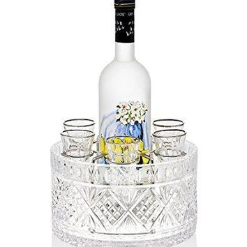 Godinger Silver Art Dublin 8-piece Drink Vodka 1.5 Oz. Shot Glasses Shooters Liquor Set