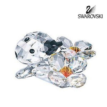 Swarovski Crystal Figurine LADYBIRD ON FLOWER #842804