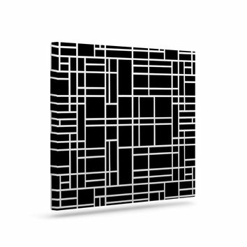 "Project M ""Map Outline Black"" Simple Geometric Canvas Art"