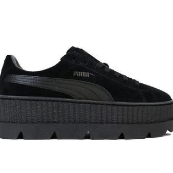 puma fenty cleated suede creeper black 366268 04  number 2