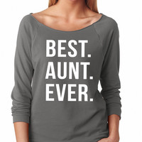Best Aunt Ever Raglan Shirt