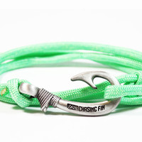 Mint Green Fish Hook Bracelet (New)