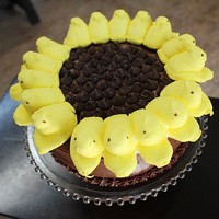 Crunchy Catholic Momma: Easter peeps sunflower cake tutorial