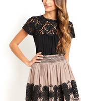 ideeli | HAZEL Embroidered Skirt