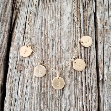 Initial Spaced Necklace
