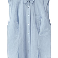 Acne / Scallop Organza Sleeveless Shirt  |   La Garçonne