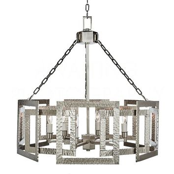 Buy Hammered Metal Octagonal Chandelier, Nickel design by Aidan Gray Online at Burkedecor – BURKE DECOR