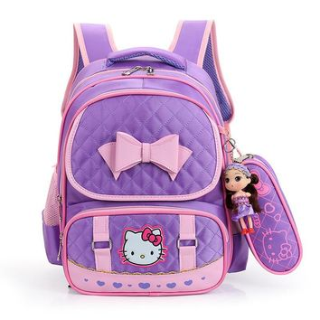 cute cartoon children school bags set primary school backpack girls kids backpacks orthopedic schoolbags backpack bookbags kids