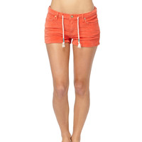 Roxy - Sunset Drops Orange Cord Women's Shorts