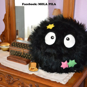 Big Soot Sprite Pillow From Molapila On Etsy