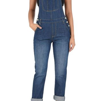 Women's Classic Style Skinny Overalls RJHO170 - D14D