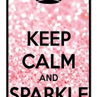 iZERCASE Keep Calm and Sparkle On rubber iphone 4 case - Fits iphone 4 & iphone 4s
