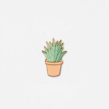 Aloe Soft Enamel Lapel Pin