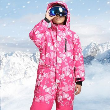 2018 Kids Outdoor Skiing Jacket Windproof Snowboard Ski Suits Girls Boys Camping Hiking Outerwear Coat