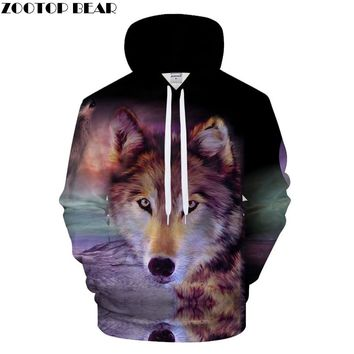Wolf family Hoodies 3D Hoodie Men Casual Hoody Harajuku Sweatshirt Streatwear Tracksuit Pullover Coat Hooded Collection DropShip