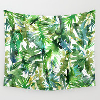 VIBE of the Jungle  {A-green} Wall Tapestry by Schatzi Brown
