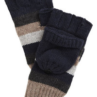 ModCloth Urban Hearth to Heart Convertible Gloves in Navy