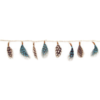 Blue Dotted Feather Anklet