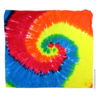 Rainbow Spiral Tie Dye Bandana on Sale for $5.99 at HippieShop.com