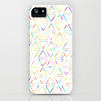 Multicolor Triangles iPhone & iPod Case by An Luong