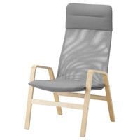 NOLBYN Chair high - birch veneer/gray  - IKEA