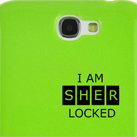 I am sherlocked Sherlock Holmes Decal Macbook car window iPad Car Notebook Decal Sticker