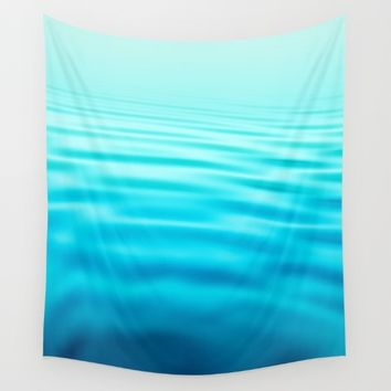 OCEAN ABSTRACT I Wall Tapestry by Pia Schneider [atelier COLOUR-VISION]