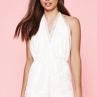 Kendall & Kylie Embroidered Halter Romper at PacSun.com