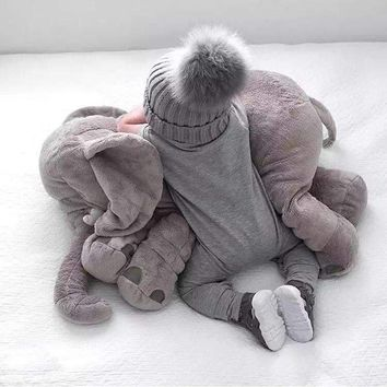 Soft Plush Elephant Lumbar Baby Pillow Toy