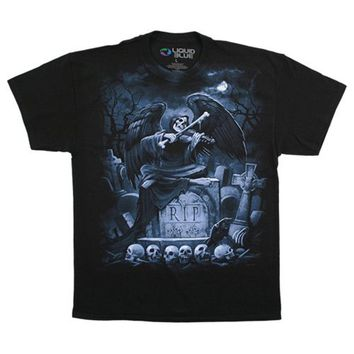 Fantasy Men's  RIP Reaper T-shirt Black