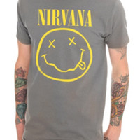 Nirvana Smiley Grey T-Shirt