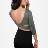 The Crop-osition Grey Crop Top