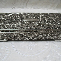 Vintage Jewelry Box Godinger Silver Plated Trinket Box Vanity Decor Home Decor