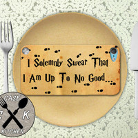 I Solemnly Swear That I Am Up To No Good Harry Potter Custom Rubber Case iPod 5th Generation and Plastic Case For The iPod 4th Generation