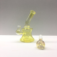 "6.5"" Fume Gold Banger Water Pipe"