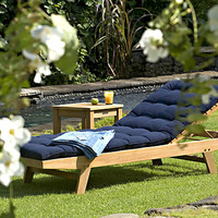 Teak Wing Point Lounger | Bainbridge Collection by Thos. Baker