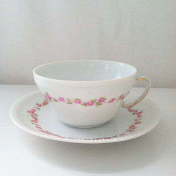 Vintage Victoria Austria Tea Cup and Saucer Cottage Style Wedding, Thank You or Housewarming Gift Inspiration