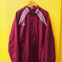 ON SALE 20% ADIDAS Equipment Vintage 90's Sport Trainer Windbreaker Red Jacket Streetwear Size 2Xl Jogging