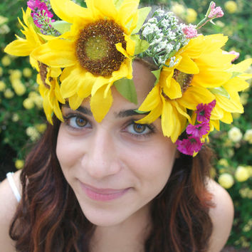 Sunflower Goddess Crown