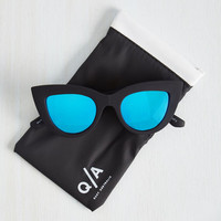 Kitti Sunglasses in Blue Lenses by Quay from ModCloth