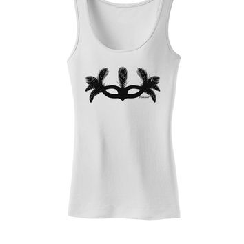 Masquerade Mask Silhouette Womens Tank Top by TooLoud