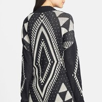 Blu Pepper Pattern High/Low Cardigan (Juniors) (Online Only) | Nordstrom