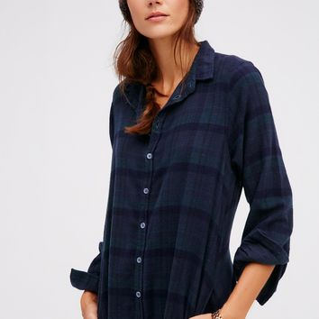 Free People Flannel Maxi