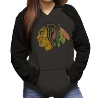 Chicago Blackhawks Women's Pullover Two-Tone Hoodie by Original Retro Brand