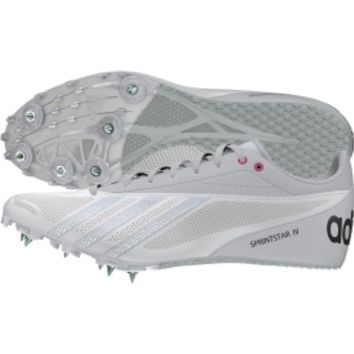 adidas Women's Sprint Star 4 Track and Field Shoe - White/Silver | DICK'S Sporting Goods